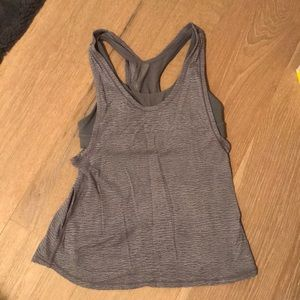 Lululemon grey tank with built in sports bra